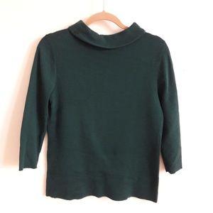 Talbots Women Green Sweater Long sleeves Portrait